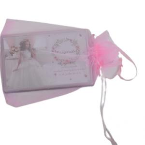 Iman com foto + saco organza (rosa ou azul)