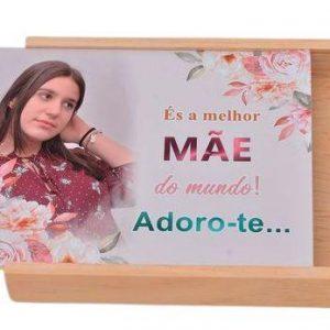 caixa madeira Mãe com foto 15×20