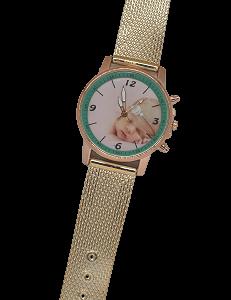 relógio de pulso com foto – golden aro verde